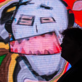 Vivid visitors will be able to get a Webster makeover at Tumbalong Park for the next 23 nights.