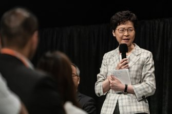 Carrie Lam confirmed the closure of the detention centre during a community dialogue event on Thursday night.