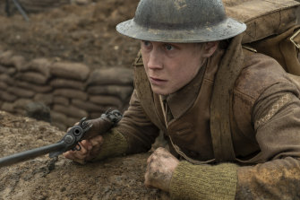 George MacKay as Schofield in <i>1917</i>.