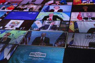 World leaders virtually attend US President Joe Biden's leaders' summit on climate this week.