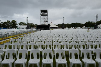 It's all too late for the Byron Bay Bluesfest which has been cancelled for another year.