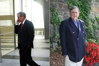 ASIO boss David Irvine (right) warned businessman Peter Mason (left) that his dealings in China were being monitored.