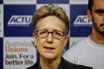 ACTU secretary Sally McManus doubts the legality, short of public health orders, of employers forcing vaccinations.