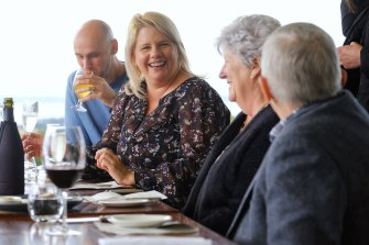 Adrian and Chris de Luca, Dianne Barker and Lindsay Portbury enjoy their first family catch up since the pandemic hit.