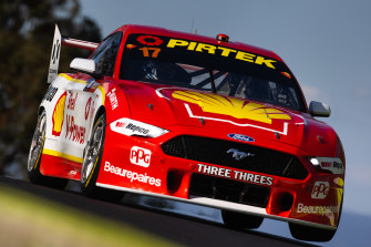 McLaughlin driving his Mustang at Bathurst this week.