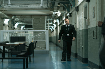 Stephen Graham is prison officer Eric McNally, who is forced into corruption to protect his son.