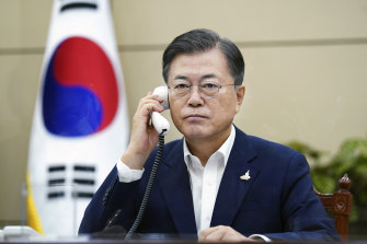 Moon Jae-in faced intense political fallout over the death of the fisheries official.