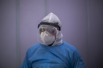 Researchers say the unusual findings underline the critical need for healthcare workers to wear top-range protective gear.