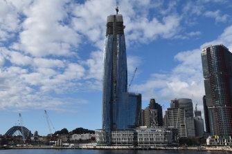 High hopes: the Casino tower at Barangaroo is expected to open by the end of the year.