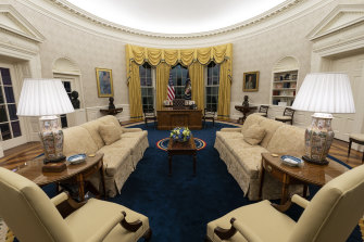 Each president changes the decor of the Oval Office.