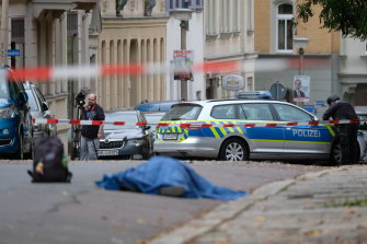 A person has been arrested after a shooting outside a synagogue in Germany.