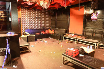 Inflation nightclub after the attack.