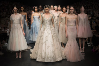 Dreamy ... the Paolo Sebastian finale in the Vogue show at VAMFF.