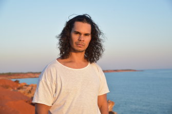 Indigenous actor Mark Coles Smith, photographed on August 16, 2021 on the beach at Broome, is set to take on the role of Jay Swann in Mystery Road: Origins.