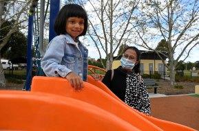 Nandita and her daughter Sanskripti also hope students return to school soon.
