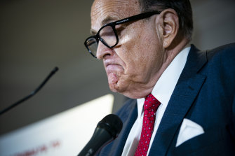 Rudy Giuliani, a former New York mayor and US associate attorney general, was personal lawyer to former US president Donald Trump.