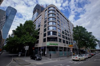 The Holiday Inn on Flinders Lane in Melbourne CBD will be one of two 'hot' hotels housing only positive cases.