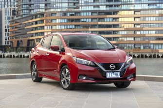 Nissan's Leaf e+ can travel up to 384km on a single charge, a 40 per cent increase on the 270km of range of the current model.