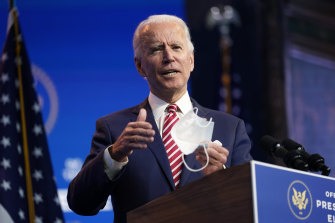 President-elect Joe Biden says he is committed to diversity in his staff.