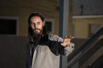 Jared Leto as smirking crime buff Albert Sparma in The Little Things.
