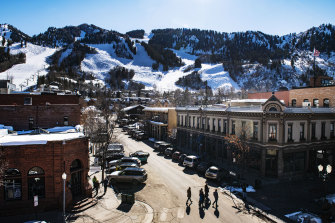 The sun shines down on Aspen, Colorado, earlier this month.  A number of infections have been confirmed at the ski resort.