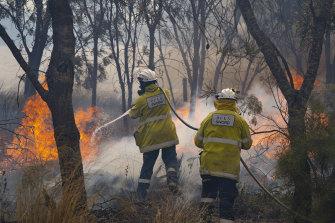 Kebakaran dimulai pada hari Sabtu dan telah membakar lebih dari 7.200 hektar.