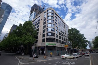 """The Holiday Inn on Flinders, one of two """"hot"""" hotels that will house coronavirus-positive patients."""