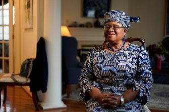 Incoming WTO leaderNgozi Okonjo-Iweala at her home in Potomac, Maryland, US.