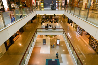 Shoppers had largely deserted the shopping centre on Wednesday.