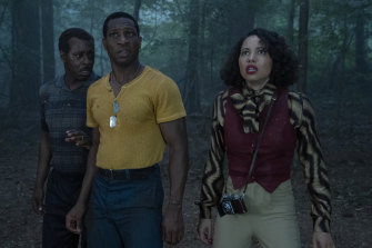 Courtney Vance, Jonathan Majors and Jurnee Smollett in Lovecraft Country.