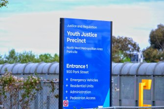 Three workers were injured at the Parkville Youth Justice Centre on Saturday.