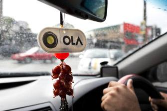 The ride-sharing service Ola has offered drivers protective equipment if they spend 50 hours a week on the platform.