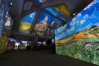 The interactive display features the equivalent of up to 40 IMAX screens.
