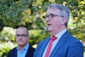 Health Minister Martin Foley spoke this week of 'relentless pressures' on Victoria's health system.
