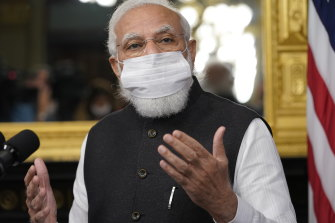India's Prime Minister Narendra Modi will oversee the Quad's vaccine diplomacy as his nation will produce the bulk of the jabs.