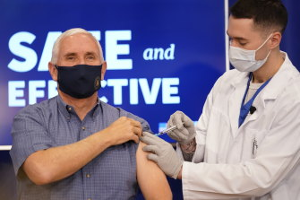 US Vice-President Mike Pence was given Pfizer's COVID-19 vaccine on live television.