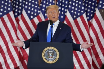 President Donald Trump prematurely claimed victory even though crucial votes were still being counted.