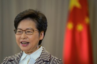 Carrie Lam acknowledged that travel restrictions could compromise Hong Kong's reputation as a global business hub.