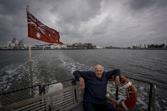 Peter Somerville owner/operator of  Maribyrnong River Cruises.