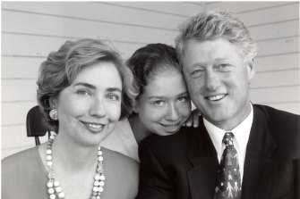 Hillary with Bill and daughter Chelsea in 1993.