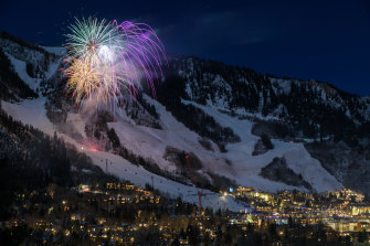 Fireworks on Aspen Mountain.