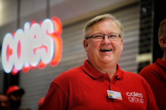 Coles chief executive Steven Cain.