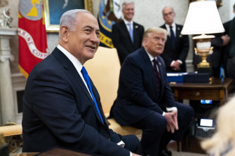 Benjamin Netanyahu, then Israel's prime minister, meets with US president Donald Trump in the Oval Office.