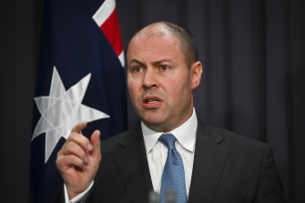 Feeling the pinch: Treasurer Josh Frydenberg.