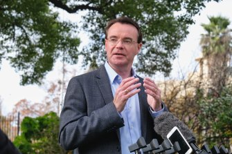 Victorian opposition leader Michael O'Brien called Mr Finn's post 'inappropriate'.