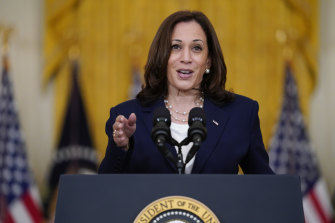 Kamala Harris is the first woman of colour to become vice-president of the United States.