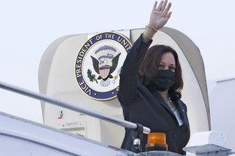 US Vice-President Kamala Harris prepares to leave Singapore on Tuesday.