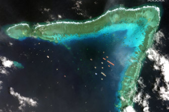 Chinese vessels in the Whitsun Reef.