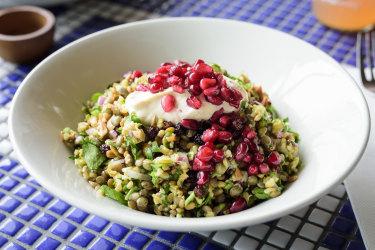 Photographer: Guy Evans – Tue, 14. November 2017 12:00 AM Hellenic Republic cypriot grain salad Hellenic Republic's popular Cypriot grain salad