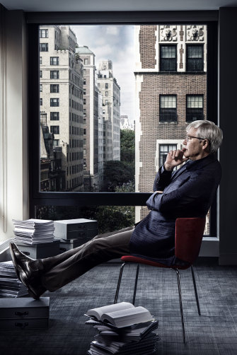 Kevin Rudd in his New York office.